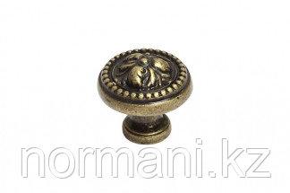 Мебельная ручка кнопка, замак, цвет бронза английская