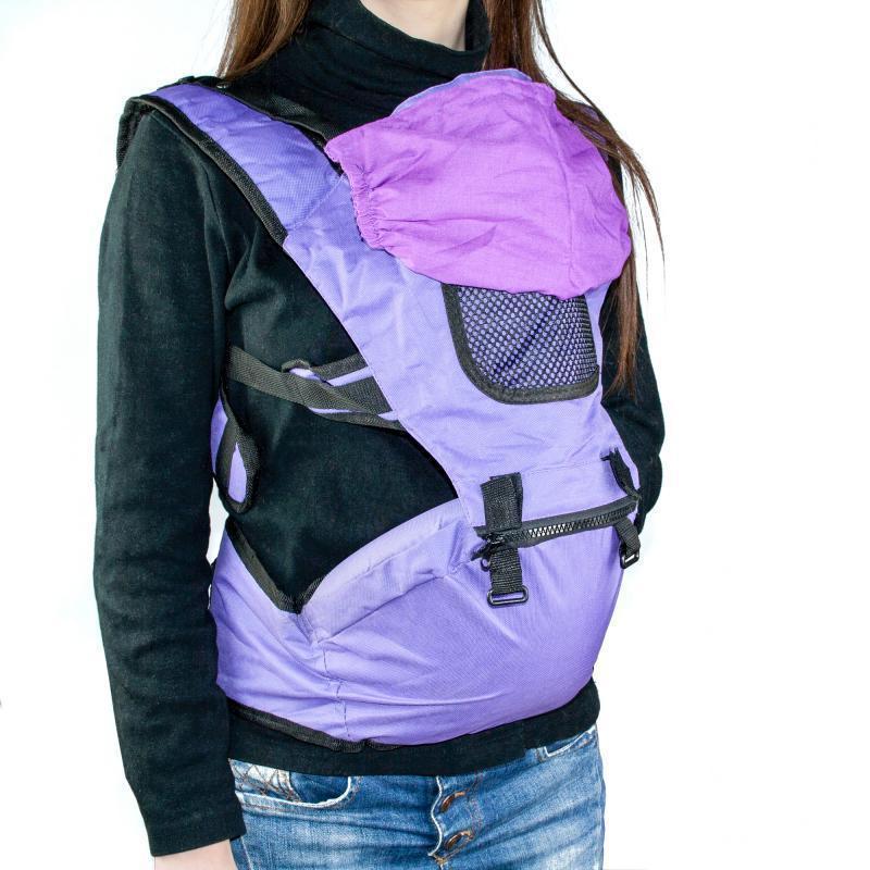 Рюкзак-кенгуру для переноски малышей, цвет фиолетовый