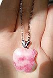 """Кулон на цепочке """"Розовое яблочко"""", фото 3"""