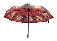 Полуавтоматический складной женский зонт LAN747brown
