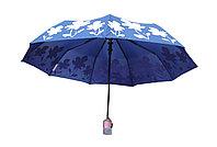 Полуавтоматический складной женский зонт W745blue
