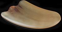 Скребок для гуаша (лицо) из рога буйвола, коричневый