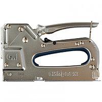 Мебельный степлер, металлический, регулируемый, тип скобы 53, 4-14 мм, СИБРТЕХ, 40101