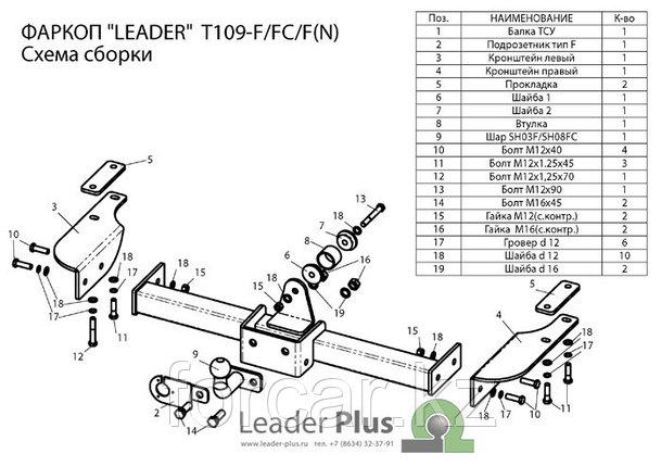 ТСУ Leader для TOYOTA LAND CRUISER PRADO (90) (J9) 1996-2002 (5 дверей), фото 2