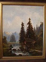 Зубин К. (C. Zubiu) Картина «Пейзаж с горной речкой»