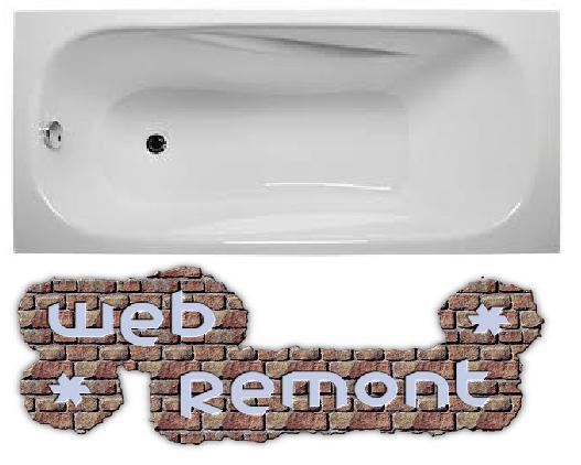 Акриловая ванна Классик 160*70 см. Ванна+ножки.1 Марка. Россия