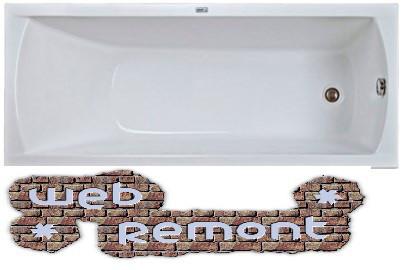 Акриловая ванна Модерн(150*70) см.1 Марка. Россия (Ванна + ножки)