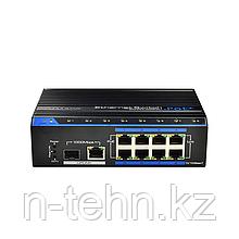 UTEPO UTP7208E-POE-A1 Коммутатор промышленный 8-портовый неуправляемый PoE+ 1порт Gigabit TP/SFP