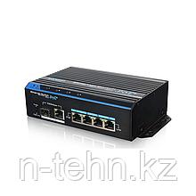 UTEPO UTP7204E-POE-A1 Коммутатор промышленный 4-портовый неуправляемый PoE+ 2 uplink порта