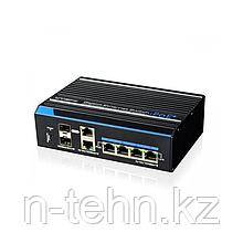 UTEPO UTP7204GE-HPOE Коммутатор 4-портовый гигабитный неуправляемый PoE+ 2 uplink порта