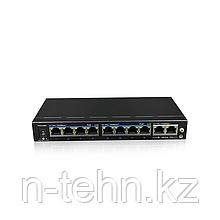 UTEPO UTP3-GSW0802-TP120 Коммутатор 8-портовый неуправляемый PoE+ 2 uplink порта 4K