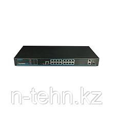 UTEPO UTP1-SW16-TP300 Коммутатор 16-портовый неуправляемый PoE+ 1 комбопорт