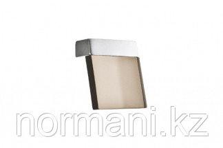 Ручка-скоба 16 мм, отделка хром матовый + транспарент коричневый