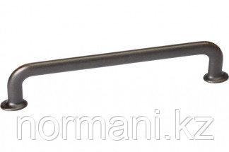 Мебельная ручка скоба, замак, размер посадки 160мм, отделка бронза античная темная