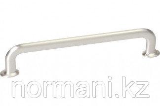 Мебельная ручка скоба, замак, размер посадки 160 мм, отделка никель