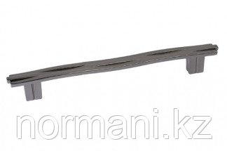 Ручка-скоба 160мм, отделка никель вороненый глянец