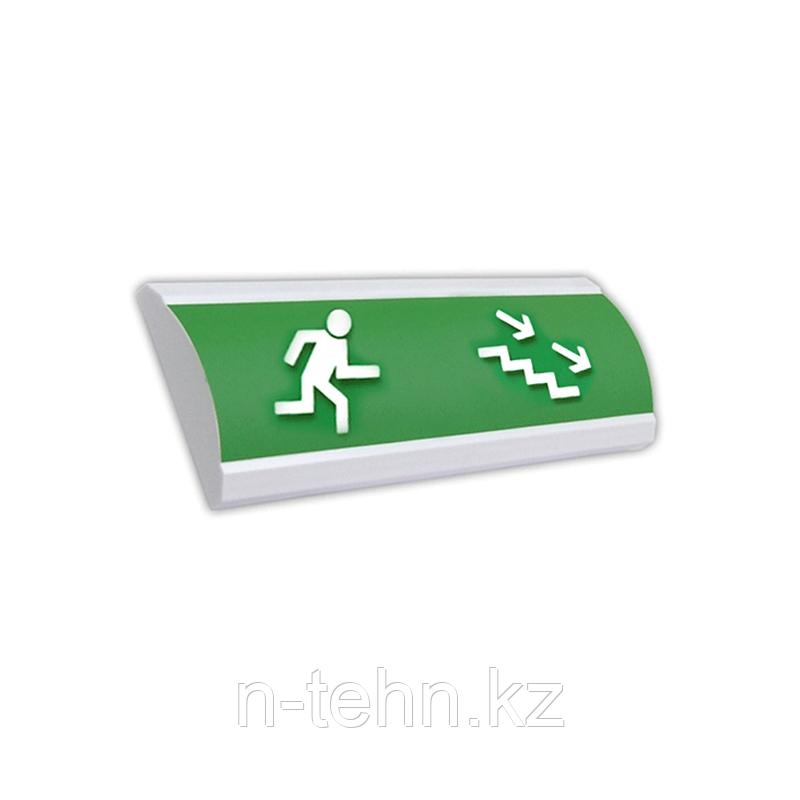 """ЛЮКС-12Д """"Человек лестница вправо вниз"""" Оповещатель световой, 12В табло"""