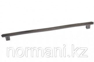 Ручка-скоба 320мм, отделка никель вороненый глянец