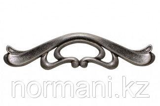 Мебельная ручка для кухни 128 старое серебро с блеском
