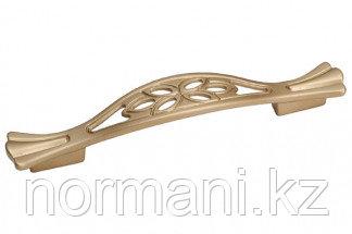 Мебельная ручка скоба, замак, размер посадки 128-096 мм, цвет золото матовое