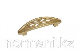 Мебельная ручка скоба, замак, размер посадки 64 мм, цвет золото матовое