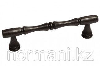 Мебельная ручка скоба, замак, размер посадки 96 мм, цвет бронза темная
