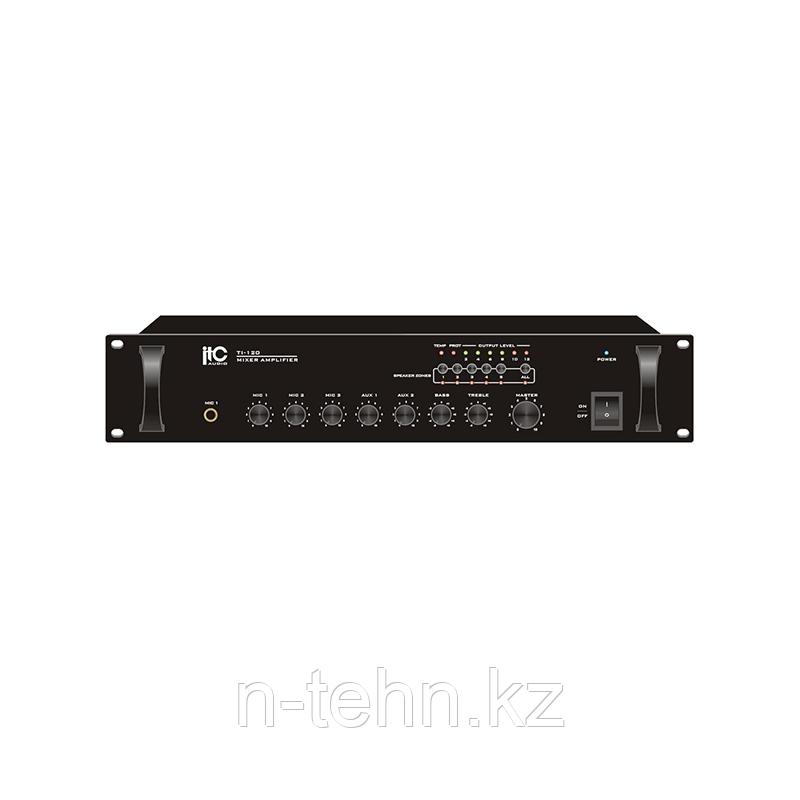ITC TI-60 Усилитель 60W, 1+2микр./4лин.входа, 5 зон, 2U