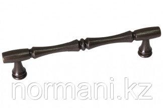 Мебельная ручка скоба, замак, размер посадки 128 мм, цвет бронза темная