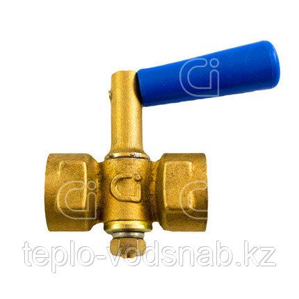 Кран для манометра Ci 11Б18бк Ду15 с ручкой, фото 2