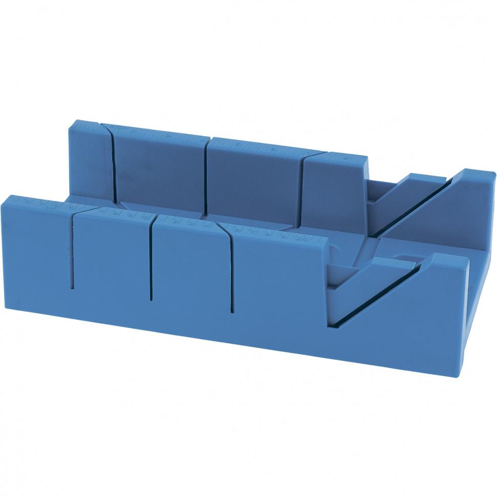 (22572) Стусло пластиковое,300 х 100мм, 4 угла для запила //СИБРТЕХ