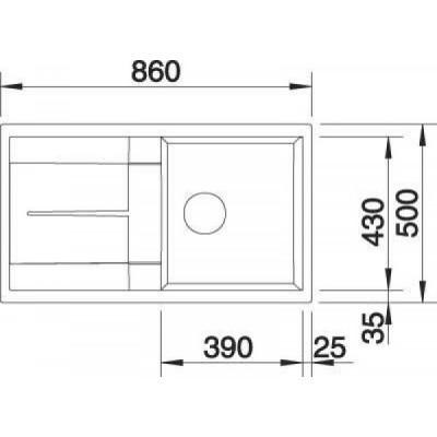 Кухонная мойка Blanco Metra 5 S мускат (521886) - фото 2