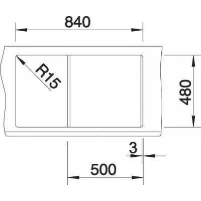 Кухонная мойка Blanco Metra 5 S мускат (521886) - фото 3
