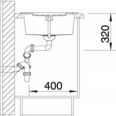 Кухонная мойка Blanco Metra 5 S мускат (521886) - фото 4
