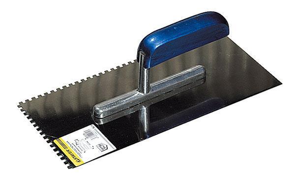 Гладилка STAYER PROFI нержавеющая с деревянной ручкой, зубчатая