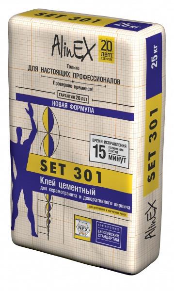 """Клей плиточный """"SET 301"""" 25 КГ."""
