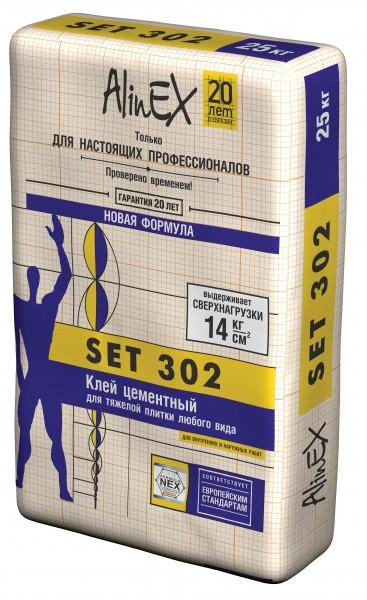 """Клей плиточный """"SET 302"""" 25 КГ"""