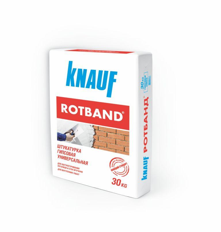 Штукатурка гипсовая универсальная КНАУФ - Ротбанд 30 кг