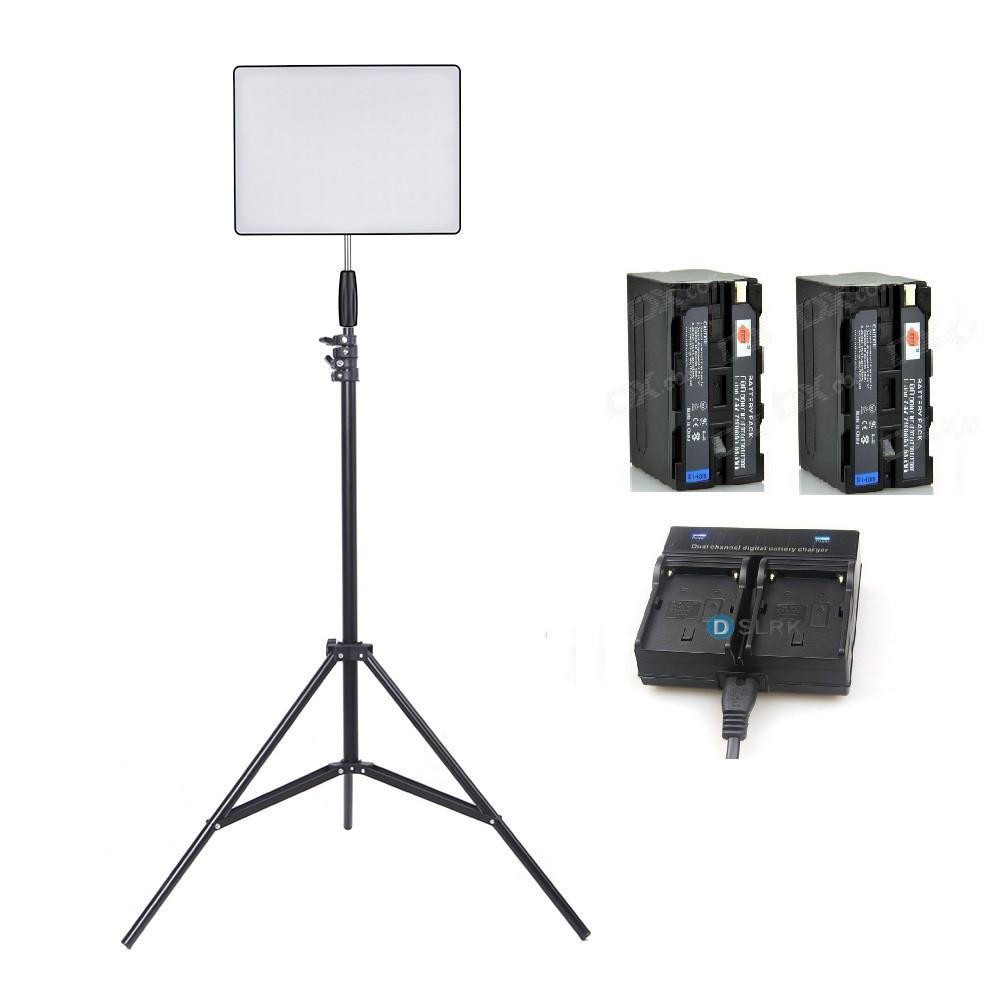 Светодиодная (LED) панель для фото / видео YN600 Air LED-192 + 2 батареи NP-F970 + зарядный хаб на 2 батареи + стойка