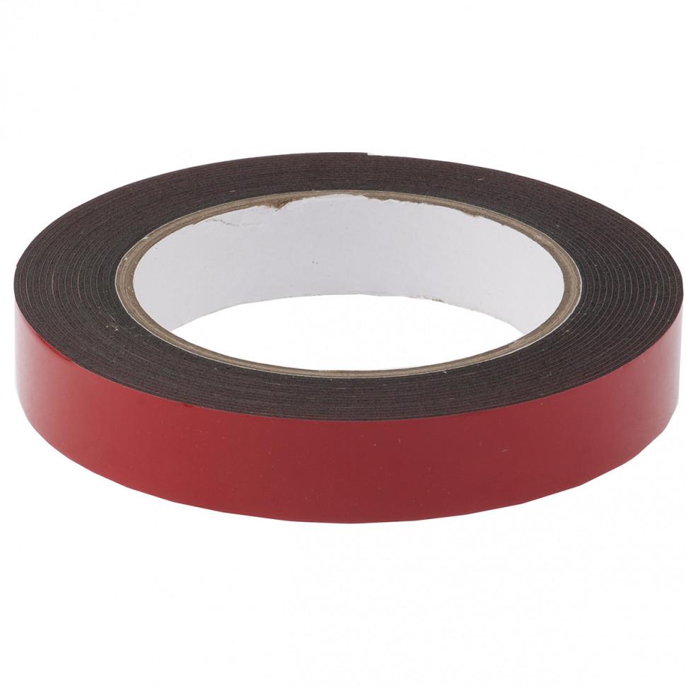 (89084) Лента клейкая на вспененной основе усиленная, двусторонняя, черная, 19 мм х 5 м// MATRIX