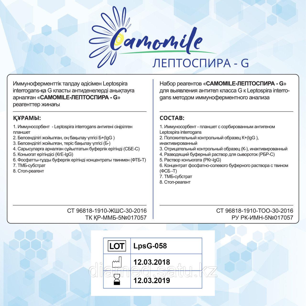 ИФА реагенты CAMOMILE-Листери-О-G