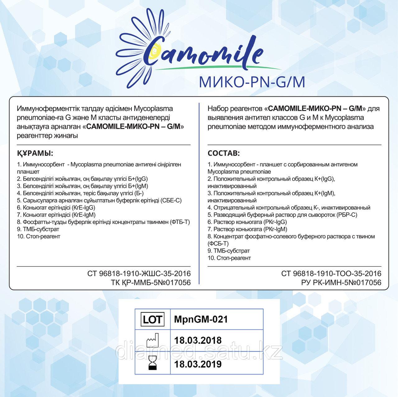 ИФА реагенты  CAMOMILE-Мико-PN-G/М