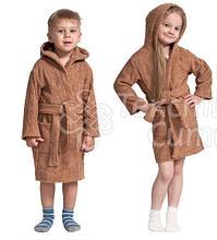 Халат детский махровый с капюшоном, Россия