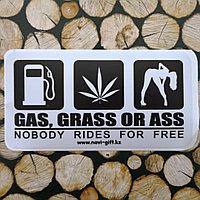 """Наклейка на авто """"Бензин, наркотики и ...."""""""