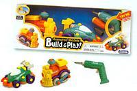 "Набор ""BUILD""N PLAY"" машина+паровозик"