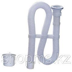 Сифон ЭКОНОМ гофрир. пластик конус, с жесткой трубой 40/50 L=900 ВИР (30980311)