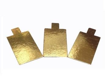Pasticciere.Подложка золото с держателем прямоугольник 90*55 мм (Толщина 0,8 мм)*100 шт/упак