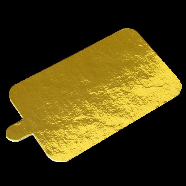 Pasticciere.Подложка золото с держателем прямоугольник 100*65 мм (Толщина 0,8 мм)*100 шт/упак