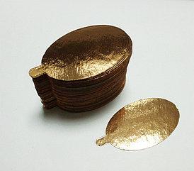 Pasticciere.Подложка золото с держателем овал 60*95 мм (Толщина 0,8 мм)*100 шт/упак