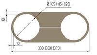 Обвод трубы пластина №105 L=330, №115L=350, №125 L=370