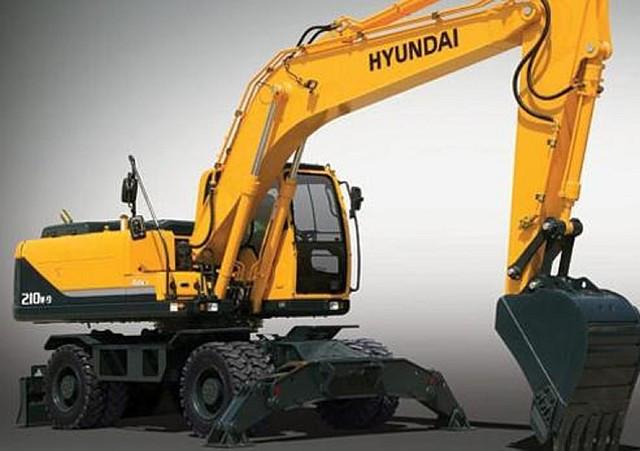 Колесный экскаватор HYUNDAI R210W-7